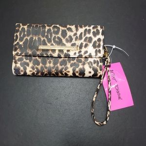Betsey Smith leopard print trifold wallet
